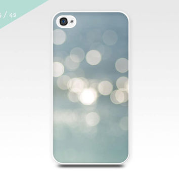 iphone 4 4s 5 case bokeh photography seen on project runway abstract light photography nautical beach decor beach photo vintage blue