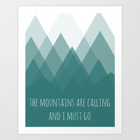 Mountains Art Print by Samantha Ranlet | Society6