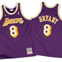 DCCKU62 Mitchell Ness Kobe Bryant 19989 Authentic Jersey Los Angeles Lakers In Purple