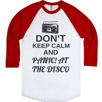 Don't Keep Calm and Panic! At The Disco-Unisex White/Red T-Shirt