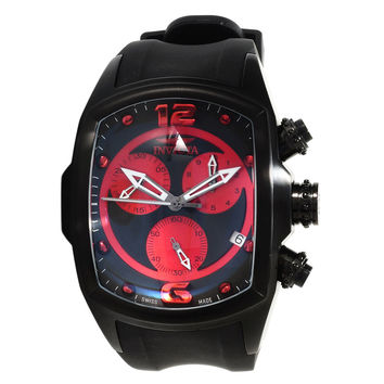 Invicta 14015 Men's Lupah Revolution Red & Black Dial Chronograph Rubber Strap Watch