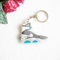 Back To The Future II Glow In The Dark Air Mag Keychain, Sneaker Keychain Key Chain Key Ring Key Holder, Llaveros Chaveiro