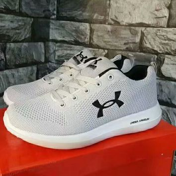 """""""Under Armour"""" Unisex Sport Casual Fashion Cortex Net Yarn knit Running Shoes Sneakers"""