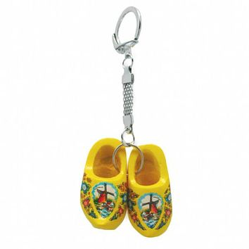 Dutch Clogs Keychain Yellow