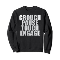 Rugby Sweatshirt CROUCH PAUSE TOUCH ENGAGE
