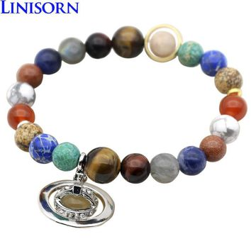 New Design Luxury 9 Planets In The Solar System Stars Universe Charm Bracelets For Women Men Couple Energy Jewelry 4 Models