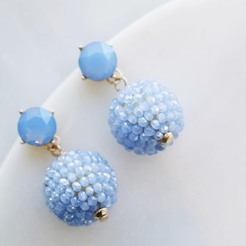 Pastel Stone and Bead Earring