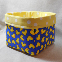 Adorable Fabric Basket Made With Rubber Duck Fabric