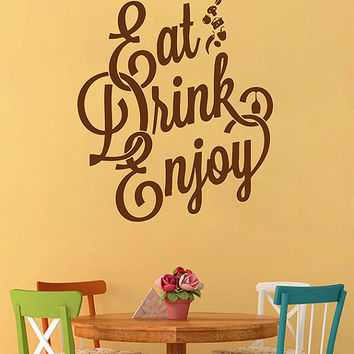 kik2822 Wall Decal Sticker label food enjoy drink kitchen restaurant snack