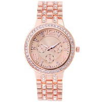 Yesurprise Casual Business Rhinestones Steel Band Bracelet Quartz Women Wrist Watch Fashion Rose Gold: Amazon.ca: Watches