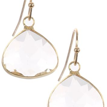 Clear Trillion Cut Faceted Lucite Stone Earring