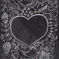 Chalkboard Doodles Printed Photography Backdrop / 9503