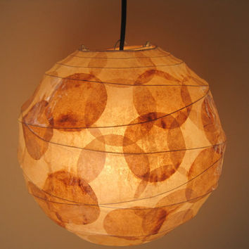 COFFEE FILTER ART - Sale - Hanging Pendant Light Paper Lampshade Lighting Fixture Hanging Paper Lantern Ceiling Light