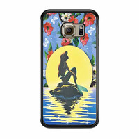 Disney Princess Ariel The Little Mermaid Floral Vintage Samsung Galaxy S6 Edge Case