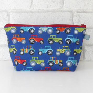 Tractor Themed Boys Wash Bag / Toiletry Bag