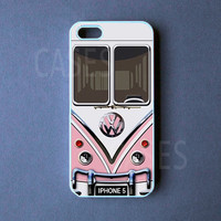 Iphone 5 Case - VW Mini Bus Pink Iphone 5 Cover