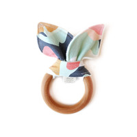 Wooden Teether Coral Jubilee