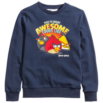 H&M - Husky Sweatshirt - Dark blue - Kids