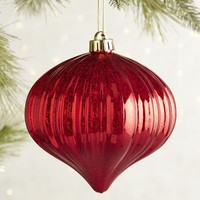 Shiny Red Shatterproof Onion Ornament
