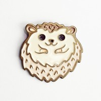 Hedgehog ball enamel pin - kawaii pins by boygirlparty - hedgehog gifts