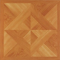 "Park Avenue Oak Diamond Parquet 12"" x 12"" Adhesive Vinyl Floor Tile - 20 Tiles"