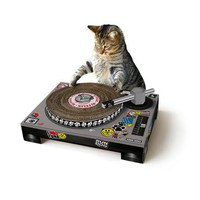 Cat Scratching Mat with Spinnable DJ deck