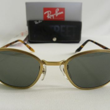 New Vintage B&L Ray Ban Sidestreet 1998 Metal Tea Cup Matte Gold W2851 USA