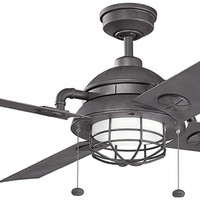 0-006804>Maor Distressed Black Ceiling Fan