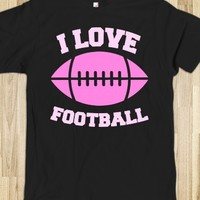 I LOVE FOOTBALL (PINK FONT)