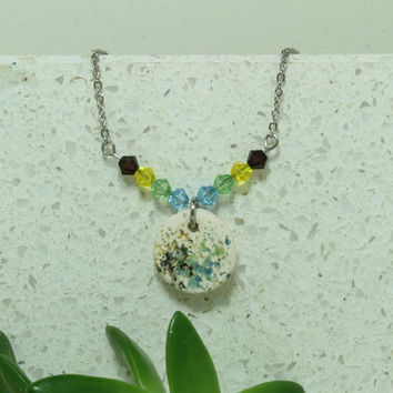 Aromatherapy Necklace Miniature Bright Pendant Handmade pottery necklace