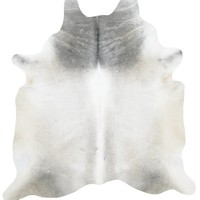 SunlandHomeDecor.com: Light Brown Gray and White Cowhide Rug - 81 in x 79 in