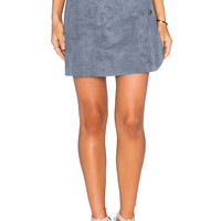 1. STATE Side Button A-Line Skirt in Grey Mist | REVOLVE