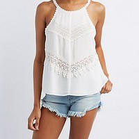 CROCHET CUT-OUT SWING TANK