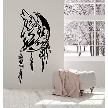 Vinyl Wall Decal Celtic Wolf Howling Predator Bedroom Decor Stickers Mural (g2605)