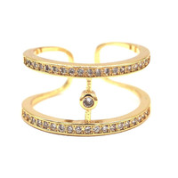 Etrendy Trendy Others Gold Plated Party Wedding Bands Women Ring