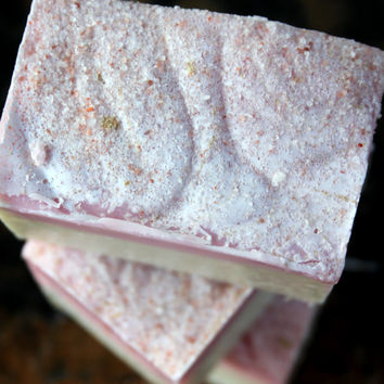 Pink Himalayan Sea Salt Bar - Olive Oil Cold Process Soap- Lychee & Red Tea