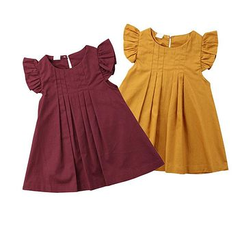 Pleated Ruffle Princess Dress