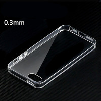 0.3mm Ultra-Thin Capa Case Crystal Clear Cover Para for Apple iPhone 4 4s 5 5s 6 6plus TPU Soft Silicone Phone Shell