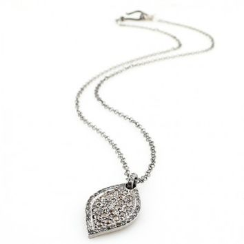 Chocolate and Champagne Diamond Marquis Necklace