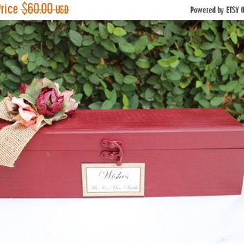 ON SALE Wedding guest book Alternative Wooden Puzzle /  Wedding Wishes Decor / Wine and Gold