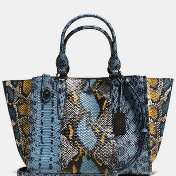 COACH CROSBY CARRYALL IN PIECED EXOTIC EMBOSSED LEATHER | Dillards