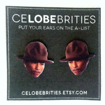 Pharrell's Hat Earrings
