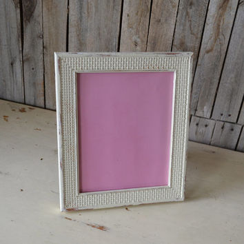 Shabby Chic White Wooden Frame with Glass and Backings