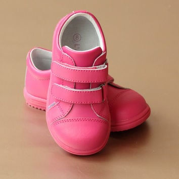 L'Amour Girls Double Strap Fashion Sneaker