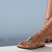Women leather sandals in tan. HERA 01 NEW