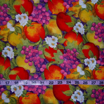 Floral fruit blossom fabric quilt cotton print quilting sewing material to sew for crafts by the yard yardage crafting craft project Winget