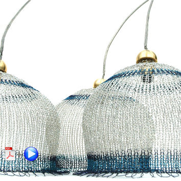 Wire crochet Yoola's lampshades , video tutorial