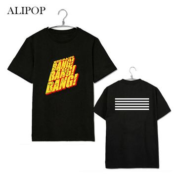 ALIPOP KPOP BIGBANG BANG GD Shirt Album Shirts K-POP Casual Cotton Clothes Tshirt T Shirt Short Sleeve Tops T-shirt DX209