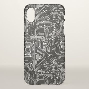 Computer Circuit Board iPhone X Case
