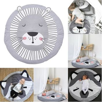INS Cute Animals Crawling Blanket Carpet Floor Baby Game Pad Children Room Decoration Play Carpet Crawling Mat
